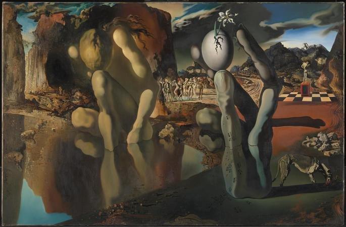 Metamorfose de Narciso, pintado por Salvador Dalí