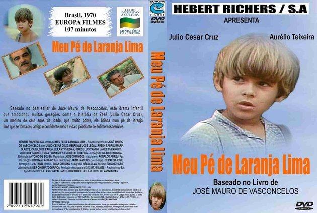 Encarte do filme O meu pé de laranja lima, lançado em 1970.