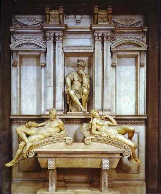 Túmulo de Lorenzo de' Medici - 630 x 420 cm - Capela Medici, Basílica de San Lorenzo, Florença