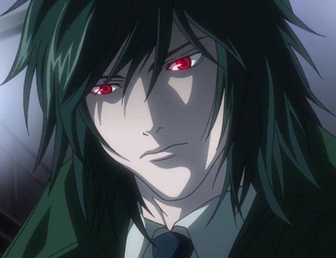 Mikani com olhos de Shinigami.