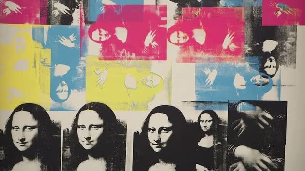 Mona Lisa Colorida de Andy Warhol