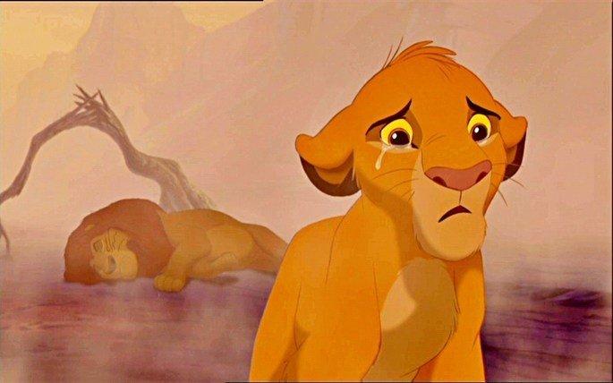 Simba encontra o corpo de Mufasa.