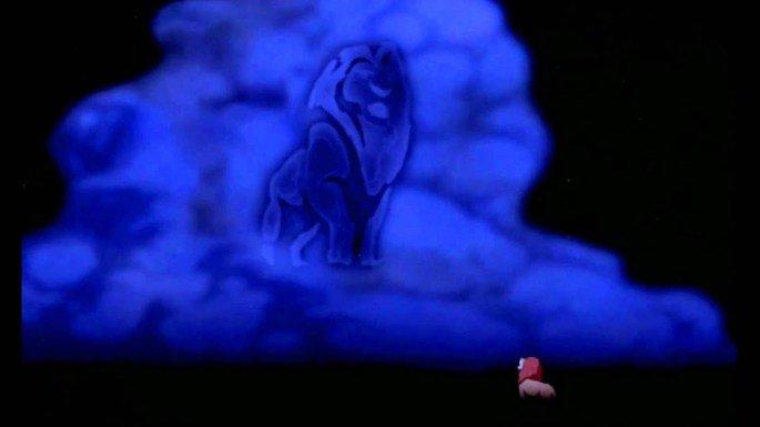 Fantasma de Mufasa aparece no céu.