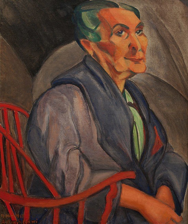 A mulher de cabelos verdes, de 1915, de Anita Malfatti