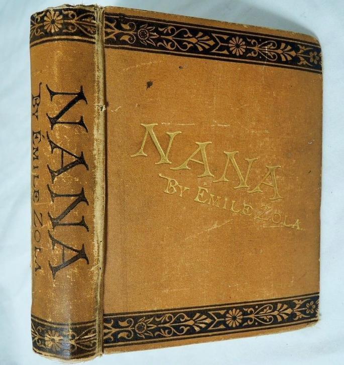 Capa da primeira edição de Nana, de Emile Zola (1880).