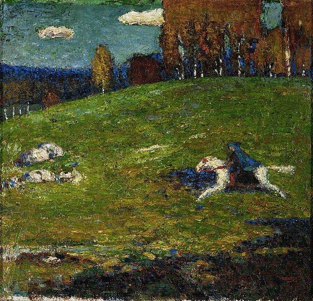 tela O cavaleiro azul, de Kandinsky