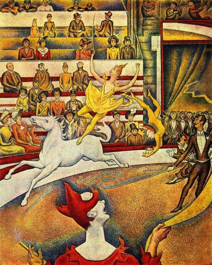O Circo (1890 - 1891), de Georges Seurat