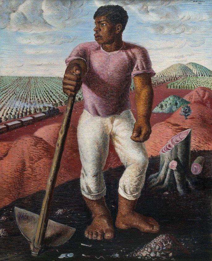 O lavrador de café (1934), é um óleo sobre tela com dimensões de 100 x 81 x 2,5 cm e pode ser visto no MASP (Museu de Arte de São Paulo)