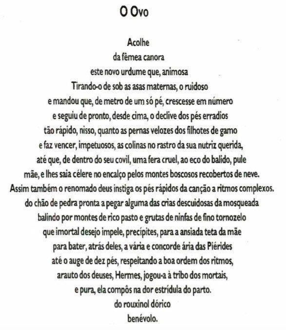 O ovo, de Símias de Rodes