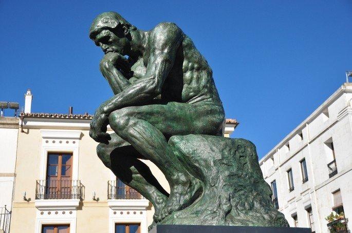 O pensador, de Rodin