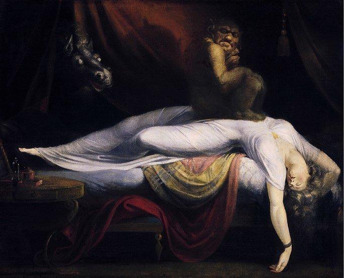 O pesadelo (1781), tela de Henry Fuseli