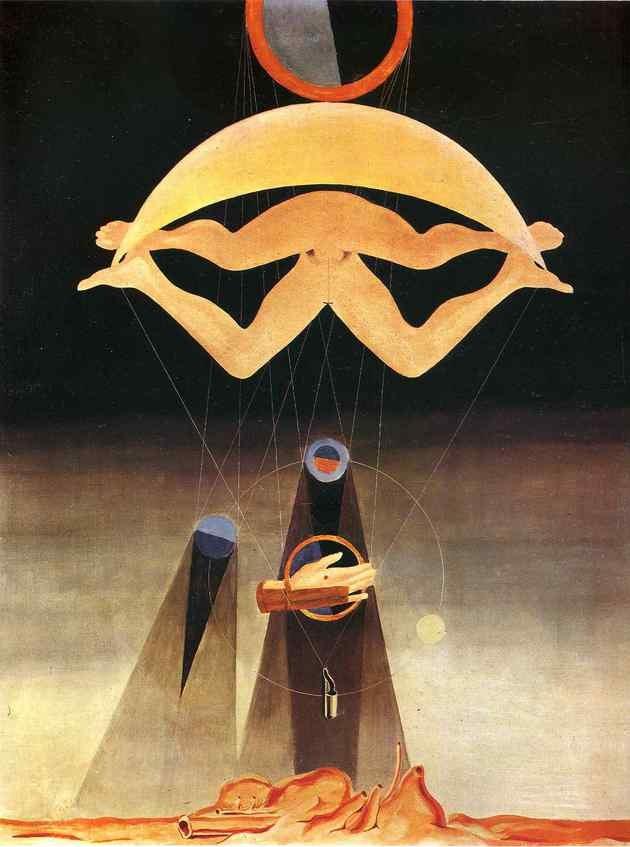 Les Hommes n'en sauront rien - óleo sobre tela, 1923 - Max Ernst, Tate