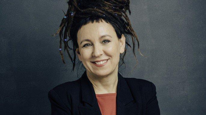 Retrato de Olga Tokarczuk.