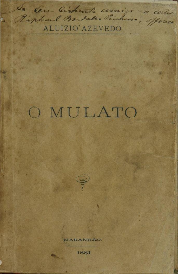 Capa do livro O Mulato de Aluíso de Azevedo