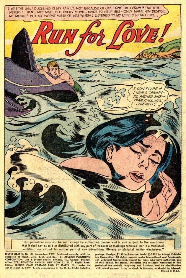 Capa da revista DC Comic que serviu de inspiração para Drowning Girl.