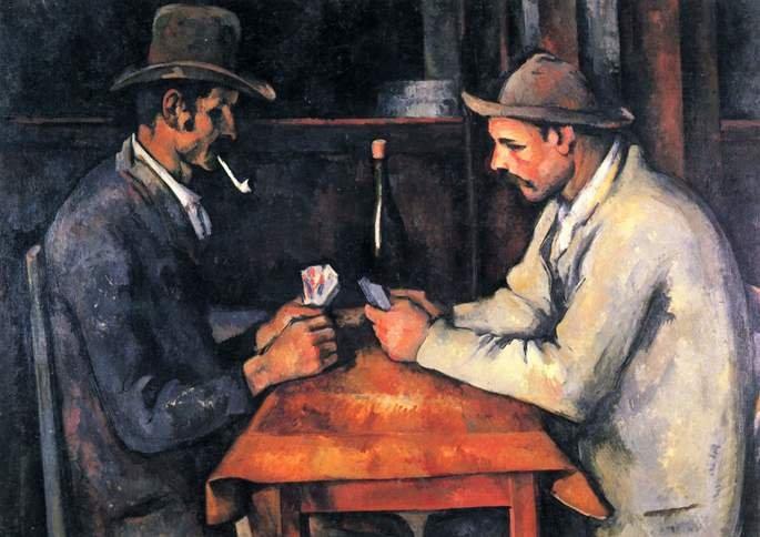 Os jogadores de carta, tela de Paul Cézane