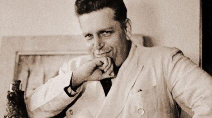 Retrato do escritor Oswald de Andrade.