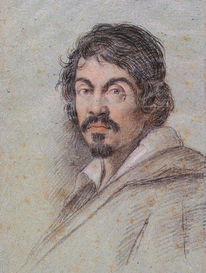 Retrato de Caravaggio por Ottavio Leoni.