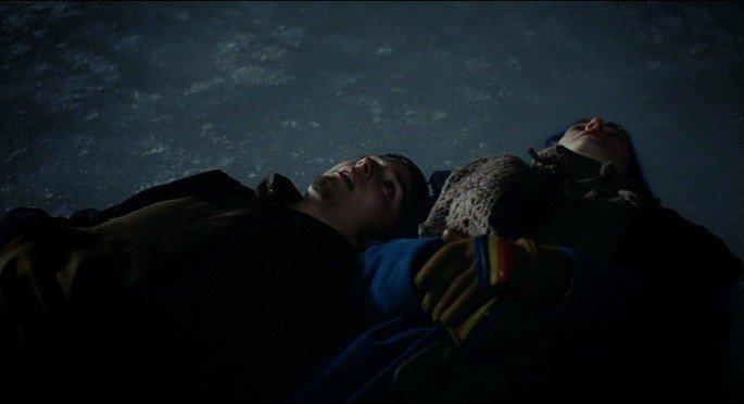 Patrick e Clementine no gelo