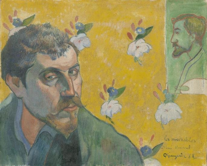 Auto-retrato de Paul Gauguin.
