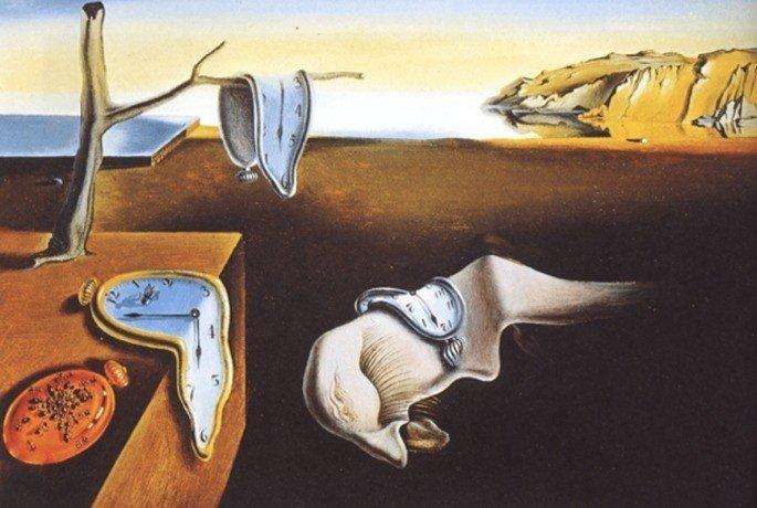 Quadro A Persistência da Memória, de Salvador Dalí