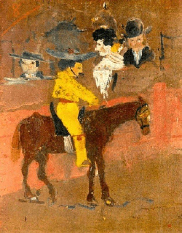 Tela Le Picador, pintada quando Picasso tinha apenas 9 anos.