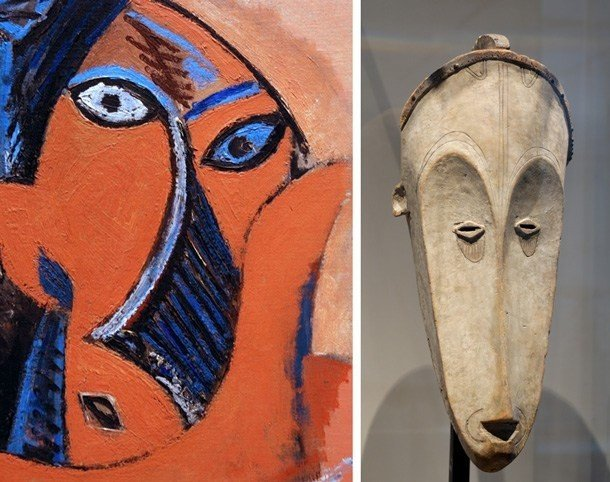Picasso e máscara africana
