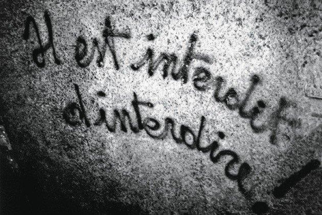 'É proibido proibir' foi um dos lemas do grupo grafitado a exaustão.