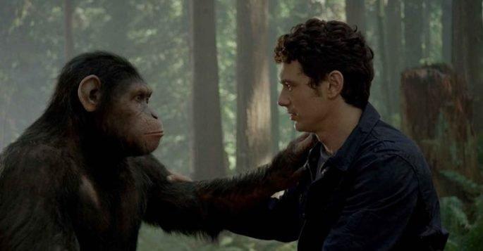 Frame do filme Planeta dos Macacos: a origem (2011).
