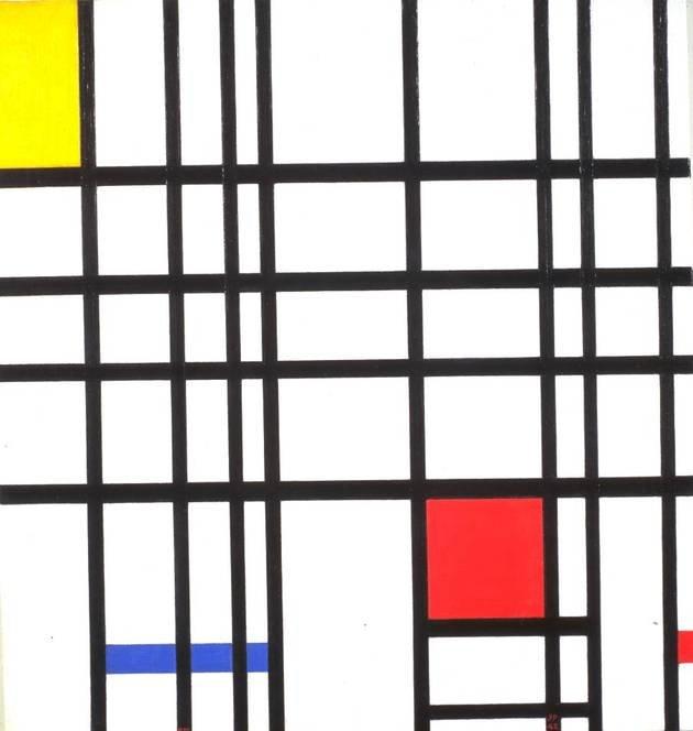 Composição com Amarelo, Azul e Vermelho