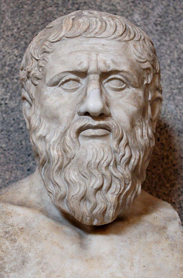 Platão, aluno de Sócrates.