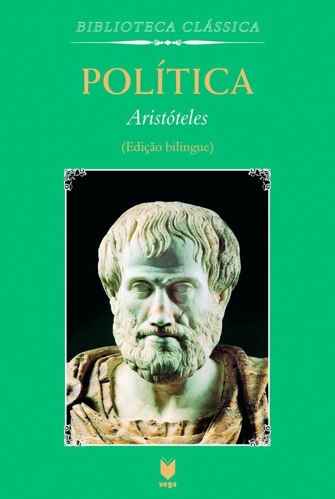 Capa da obra Politica, de Aristoteles