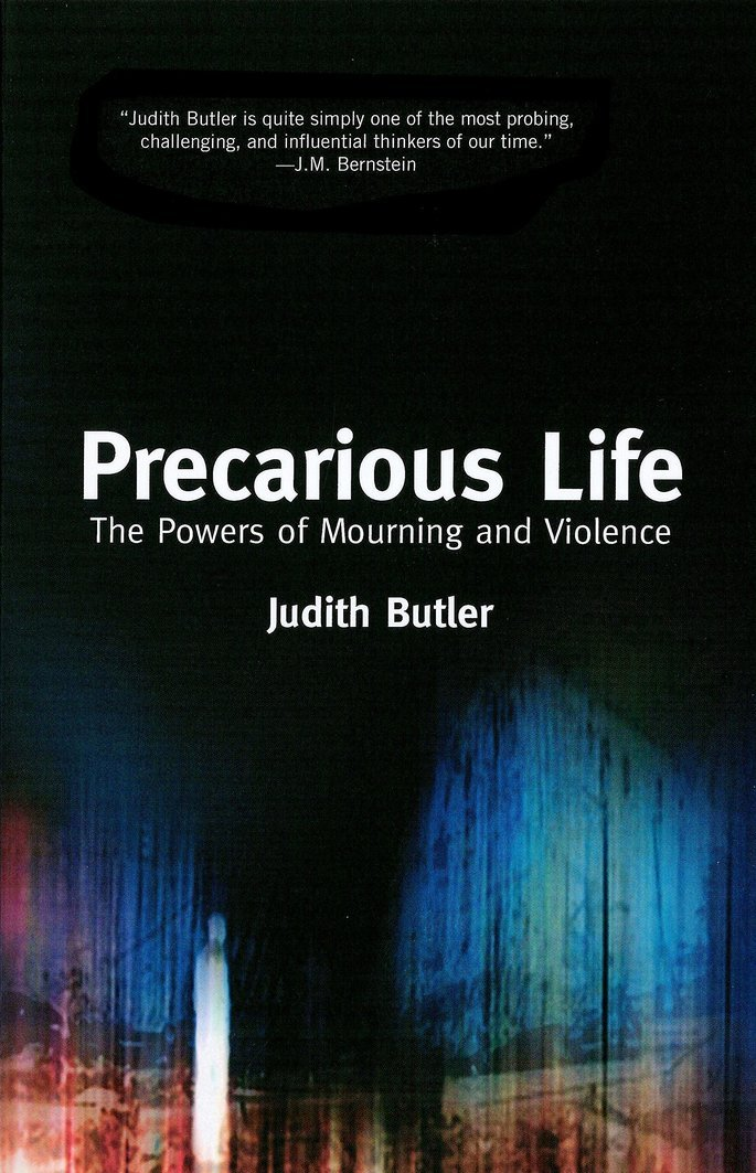 Capa do livro Precarious life - vida precaria (2004).