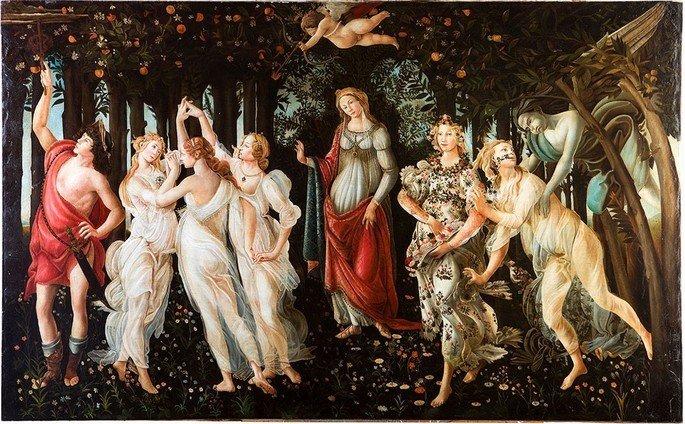 Primavera, de Botticelli, retrata um quadro renascentista