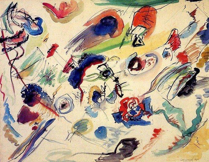 Primeira aquarela abstrata (1910), de Kandinsky, é considerada a obra que dá início ao abstracionismo