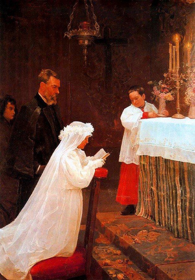 O quadro Primeira Comunhão participou da Exposição Municipal de Barcelona quando Picasso era apenas um jovem de 16 anos.