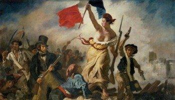 Quadro A liberdade guiando o povo, de Eugène Delacroix