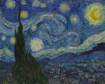 Quadro A Noite Estrelada de Vincent Van Gogh