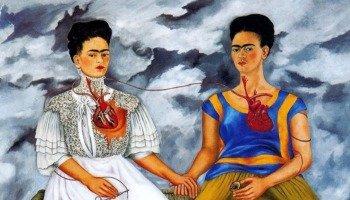 Quadro As Duas Fridas, de Frida Kahlo
