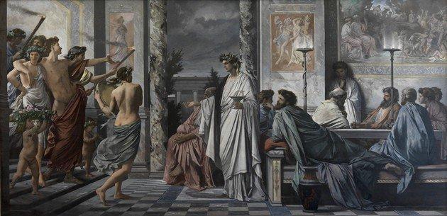 Pintura O Banquete de Platão, de Anselm Feuerbach.