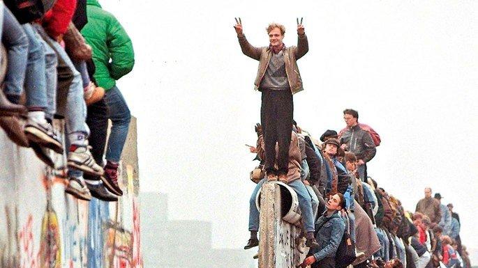 Queda do muro de Berlim, 1989.