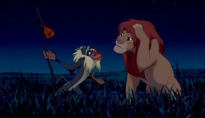 Rafiki conversa com Simba.