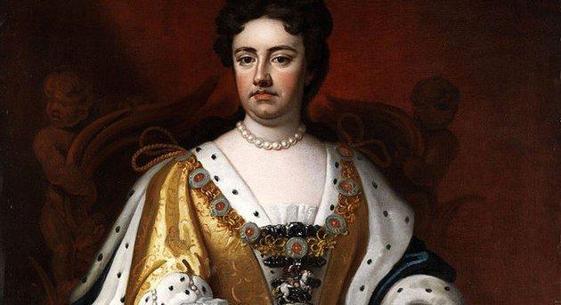 Registro da Rainha Anne, que teria comandado a Inglaterra entre