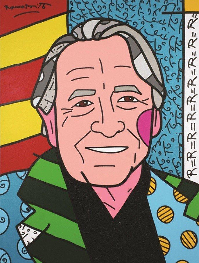 We love Rauschenberg Romero Britto