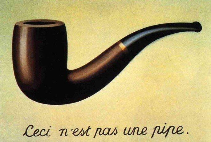 Isto não é um cachimbo, de Magritte