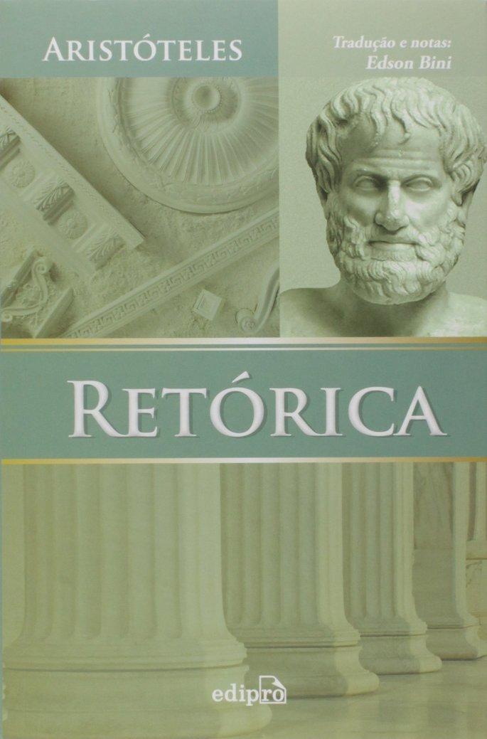 Capa do livro Retorica, de Aristoteles.