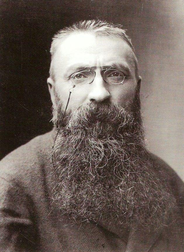 Retrato de Rodin.