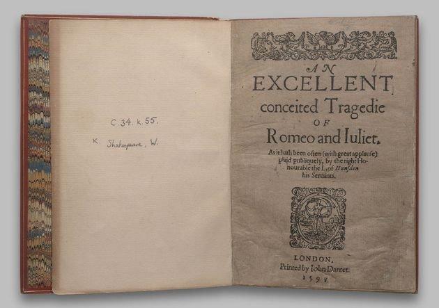 Primeira edição de Romeu e Julieta.
