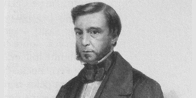 Retrato de Gonçalves de Magalhães, introdutor do Romantismo no Brasil.