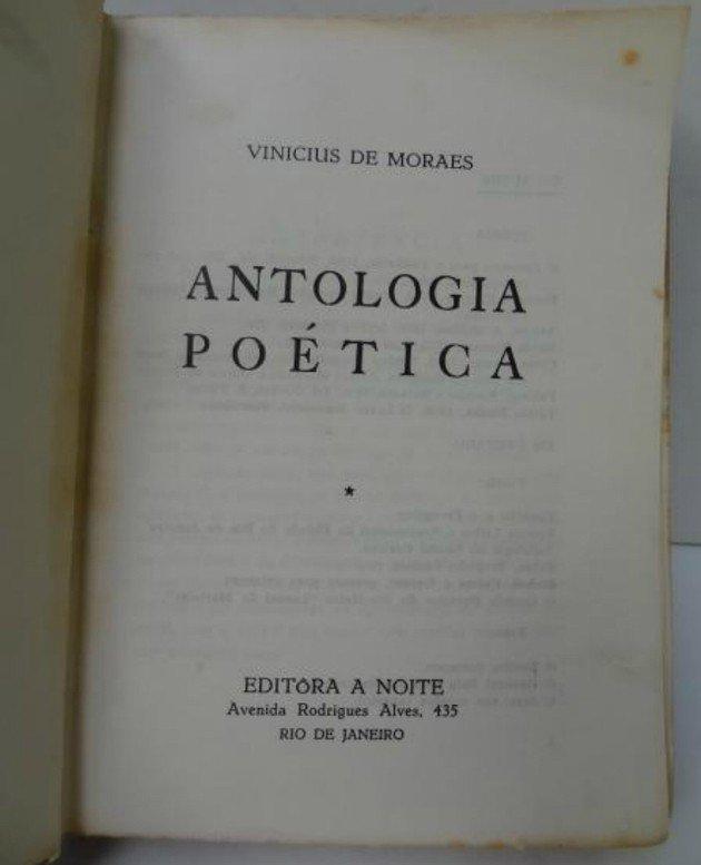 Frontispício da edição Antologia poética, lançada em 1954, que trazia o poema A Rosa de Hiroshima.